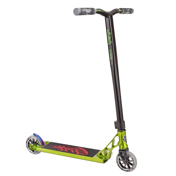 Трюковой Самокат Grit Scooters Tremor Polished Green/Black
