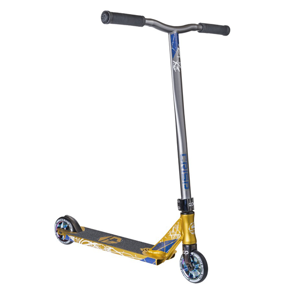 Трюковой Самокат Crisp Scooters Inception Black Black-Gold Metallic