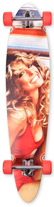 Лонгборд DUSTERS FARRAH FAWCETT Red 40