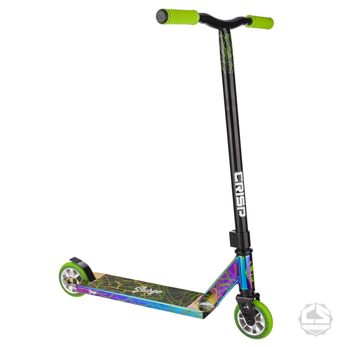 Трюковой самокат Crisp Scooters Surge Chrome Black Green-4
