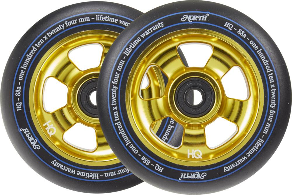 Колеса North HQ V2 Pro Scooter Wheels 2-Pack (110mm - Gold)