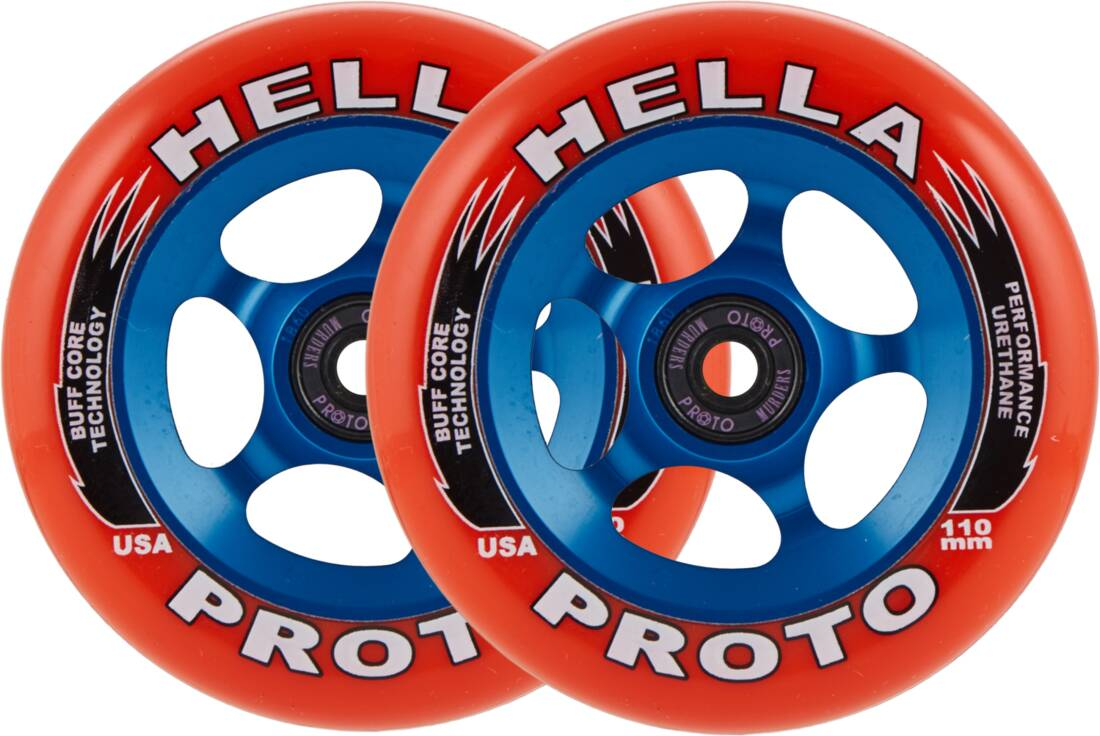 Колеса Proto X Hella Grip Pro Scooter Wheels 2-Pack (110mm Red Blue)