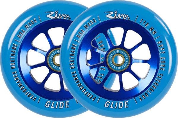 River Glide Sapphire Pro Scooter Wheels 2-Pack (110mm Blue)