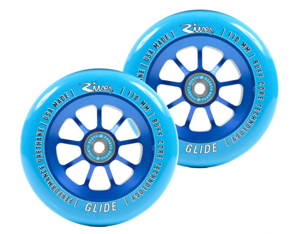 Колеса River Naturals Glide Pro Scooter Wheels blue 110mm