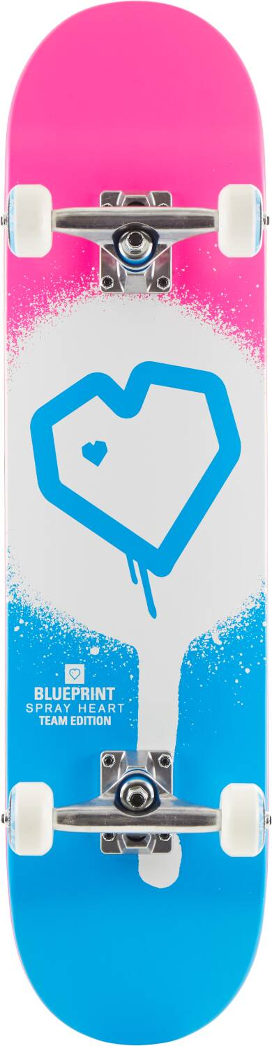 Скейтборд Blueprint Spray Heart Complete Skateboard Spray Heart 7,75""