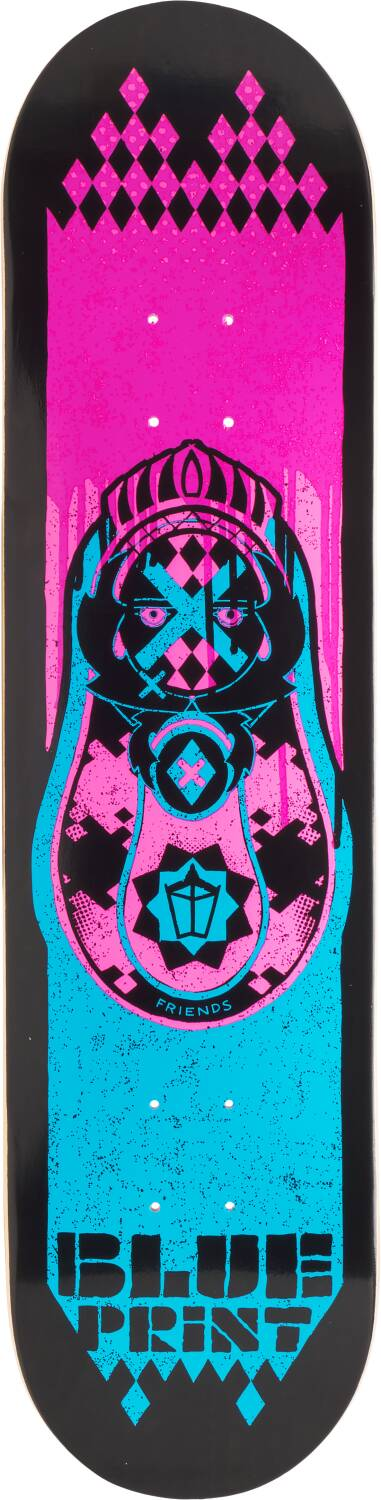 "Скейтборд дека Blueprint Babushka Skateboard Deck (8"", Pink)"