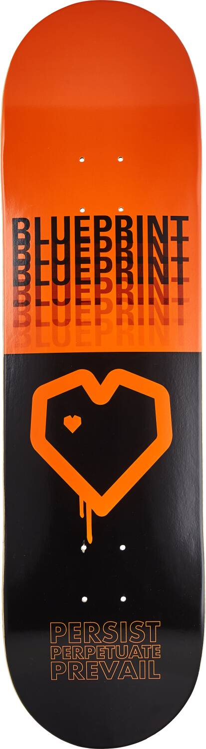"Скейтборд дека Blueprint Shadow Skateboard Deck (8.375"", Orange)"