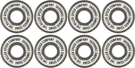 Killer Swiss Chargers Bearings 8-Pack (White)