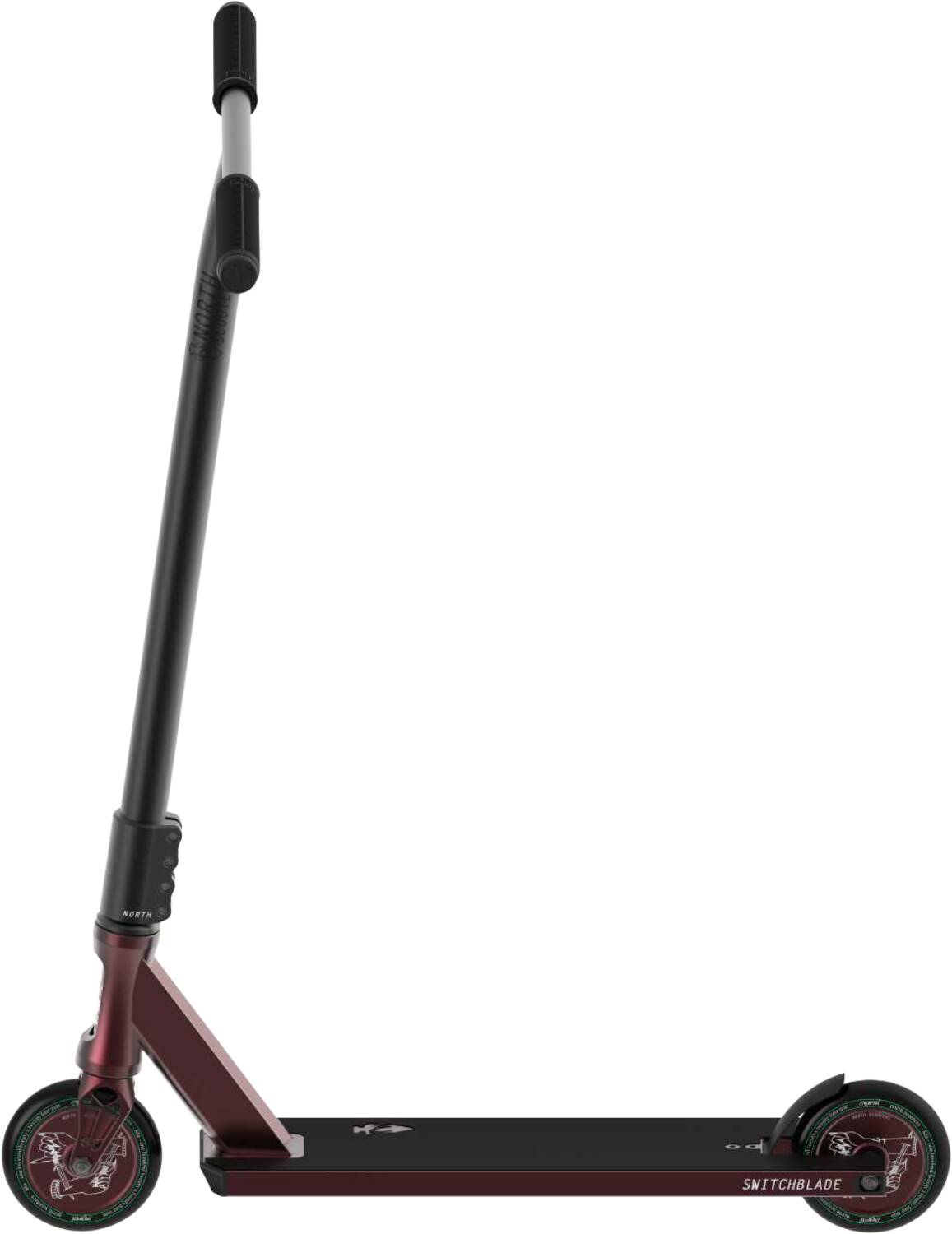 Трюковой самокат North Switchblade 2020 Pro Scooter (Wine Red & Black)