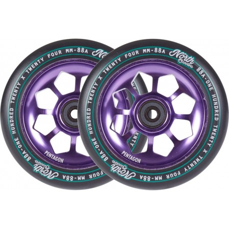 Колеса North Pentagon 120mm Purple
