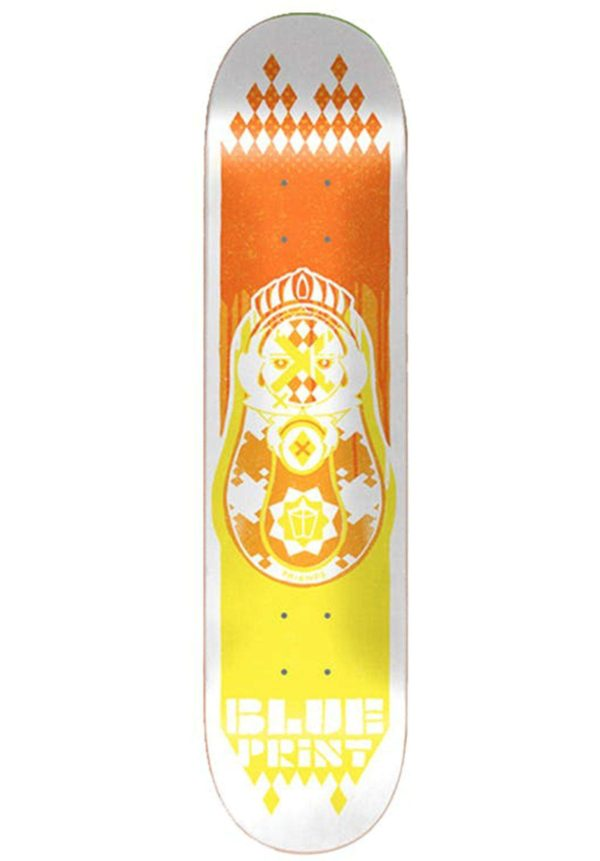 "Скейтборд дека Blueprint Babushka Skateboard Deck (8.25"", Orange/Yellow)"
