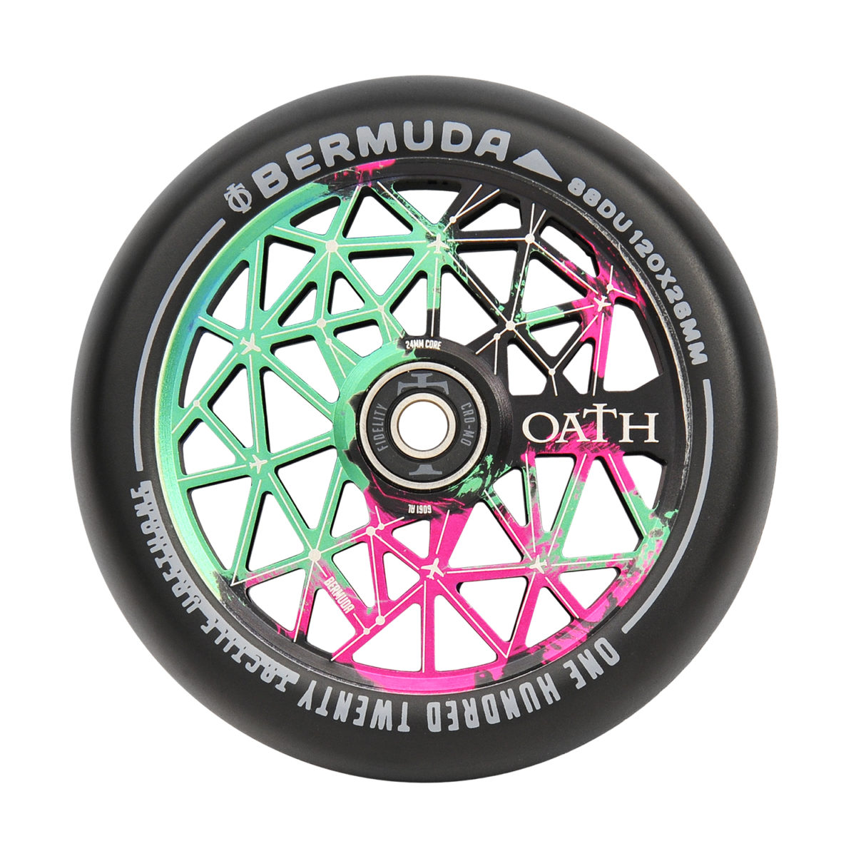 Колеса Oath Bermuda 110mm Wheels Green/Pink/Black-2