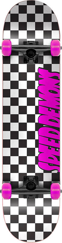 "Скейтборд Speed Demons Checkers (7.75"" Checkers Pink)"