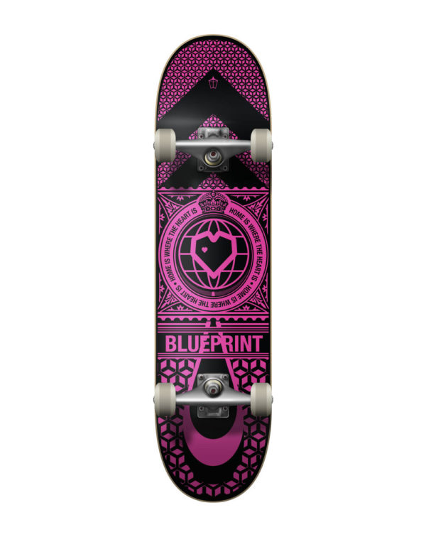 "Скейтборд Blueprint Home Heart Complete (7,75"" Black/Pink)"
