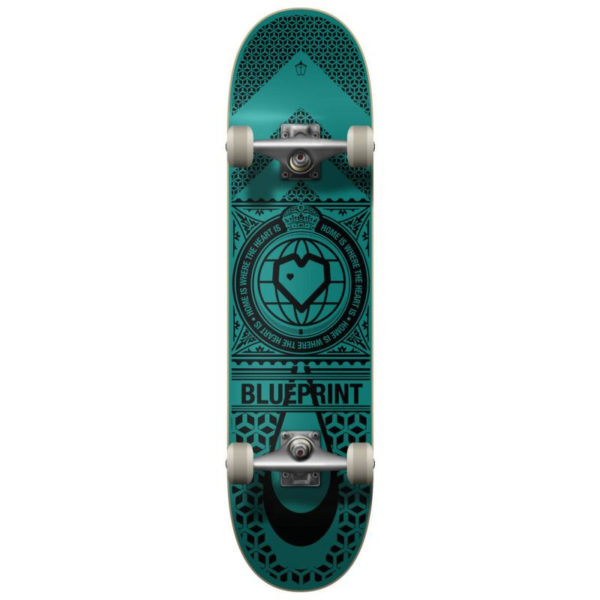 "Скейтборд Blueprint Home Heart Complete (8,25"" Black/Teal)"