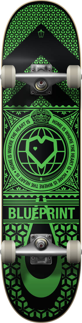 "Скейтборд Blueprint Home Heart Complete (8"" Black/Green)"
