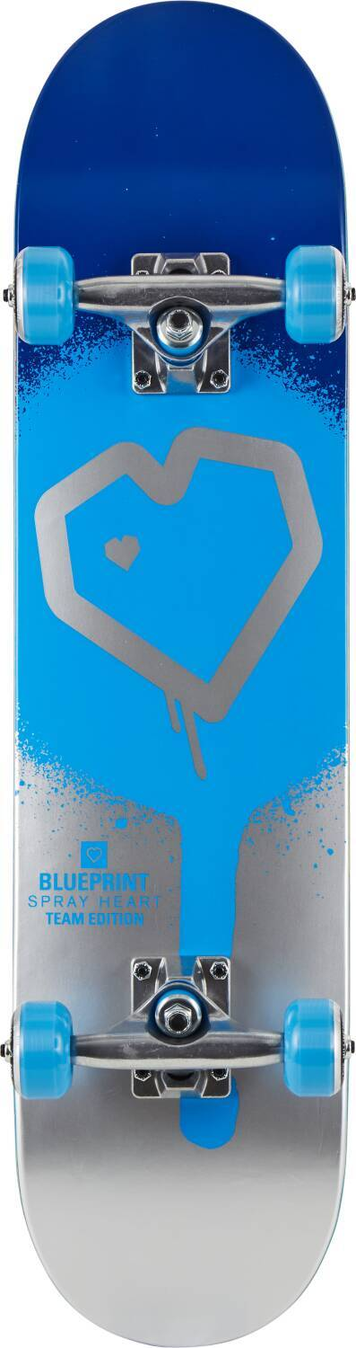 "Скейтборд Blueprint Spray Heart V2 Complete (8.25"" Blue/Silver)"